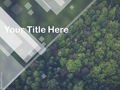 Free Forest Protection PPT Template
