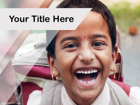 Free Girl Child Literacy PPT Template