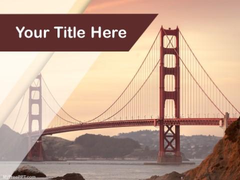 Free Golden Gate Bridge PPT Template