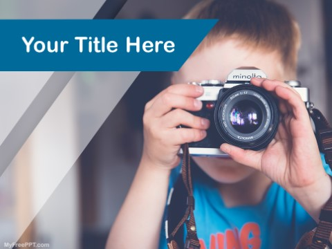 Free Kids Learning Photography PPT Templ
