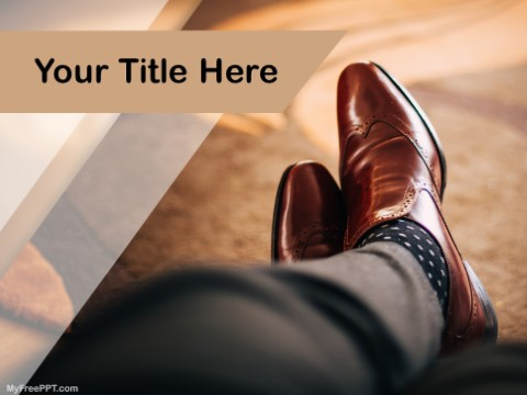free leather shoes ppt template - download free powerpoint ppt, Presentation templates