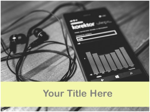 Free Mobile Music PPT Template