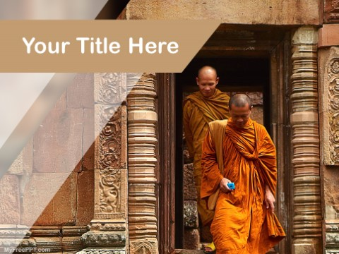 Free Monk PPT Template