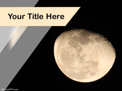 Free Moon Eclipse PPT Template