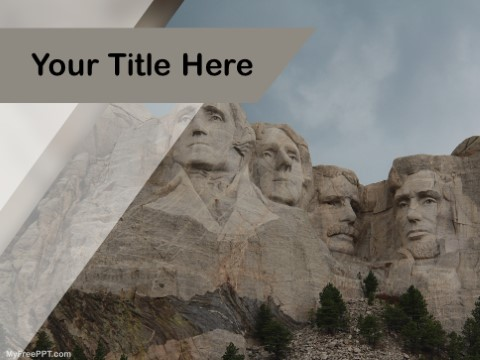 Free Mount Rushmore PPT Template