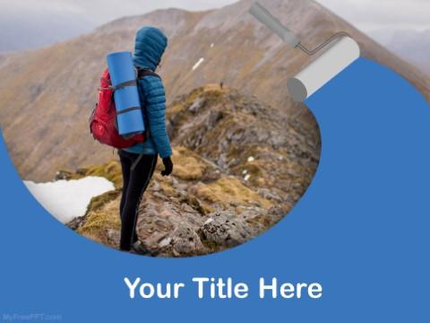 Free Mountain Climbing PPT Template