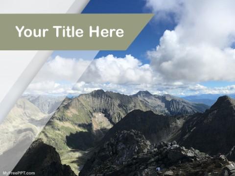 Free Mountains Range PPT Template