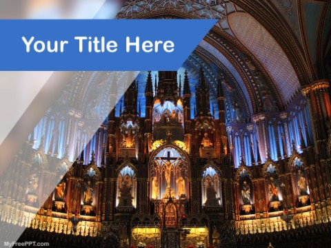 Free Notre Dame Basilica PPT Template