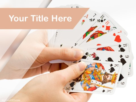 Free Playing Cards Game PPT Template