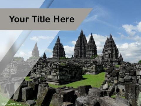 Free Prambanan Indonasia PPT Template