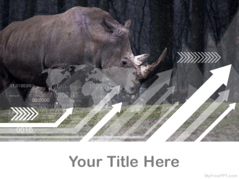 free rhinoceros ppt template download free powerpoint ppt