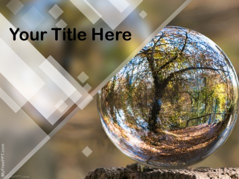 Free Save Water Save Forest PPT Template