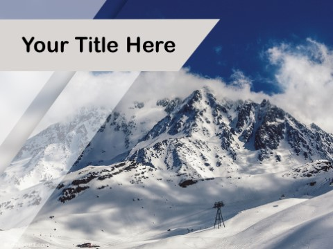 Free Snow Peak PPT Template