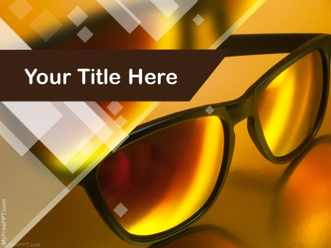 Free Sunglasses PPT Template