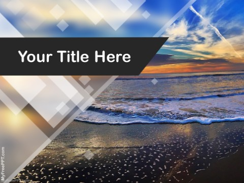 Free Sunset Sea PPT Template