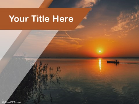 Free Sunset View On Lake PPT Template
