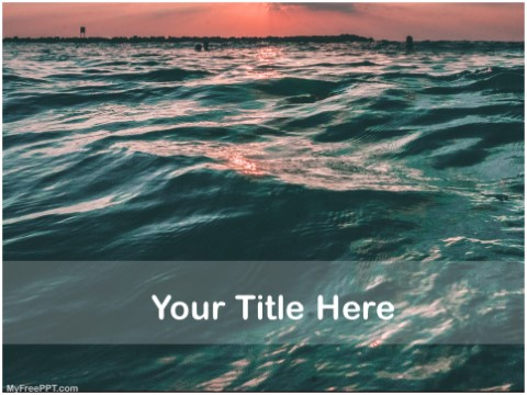 Free Survive In Ocean PPT Template