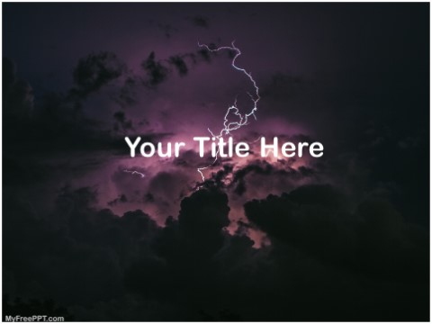 Free Thunder Storm PPT Template