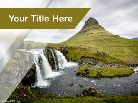 Free Waterfalls PPT Template