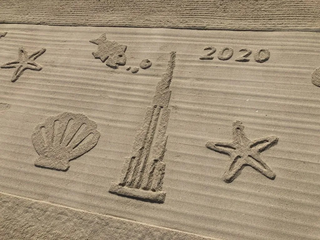 Dubai 2020 on the beach