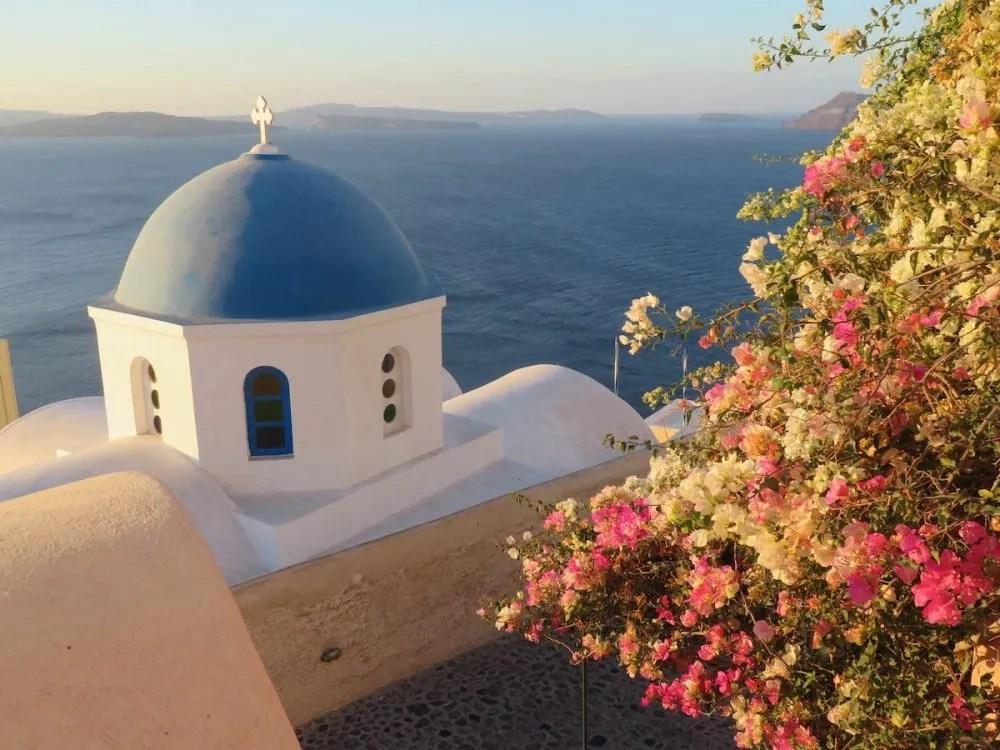 Oia sunrise in Santorini Greece