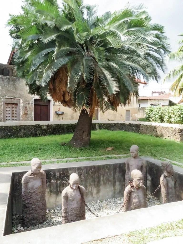 Slave Trade Exhibit Stone Town.