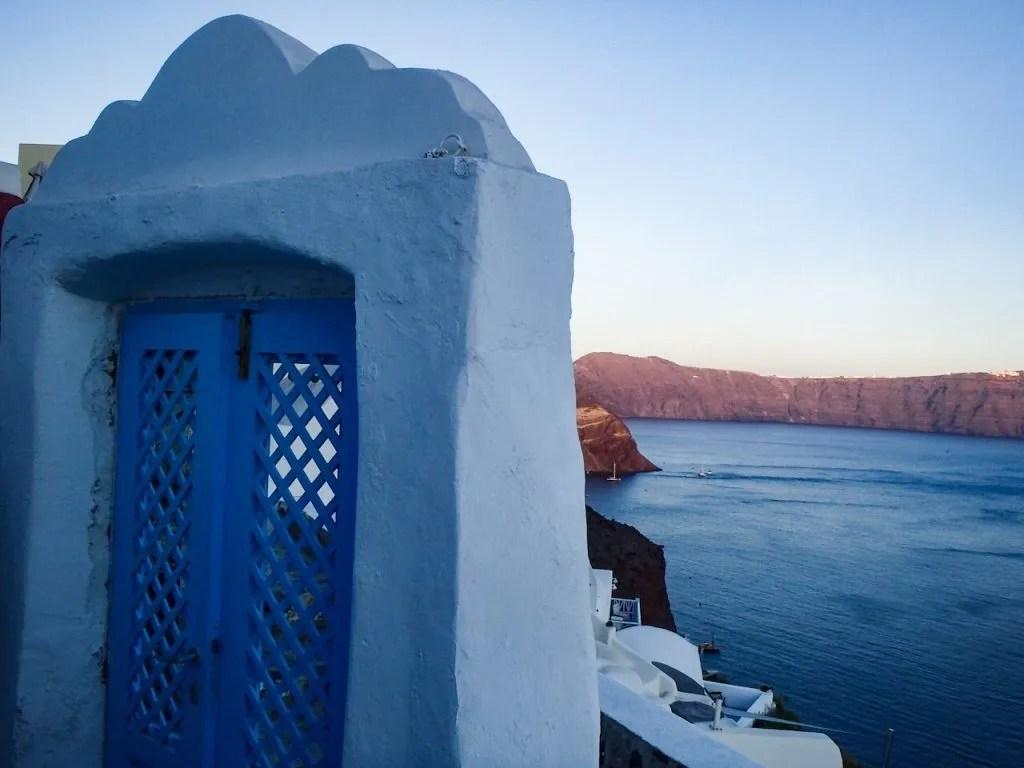Views from Oia, Santorini travel vacation.