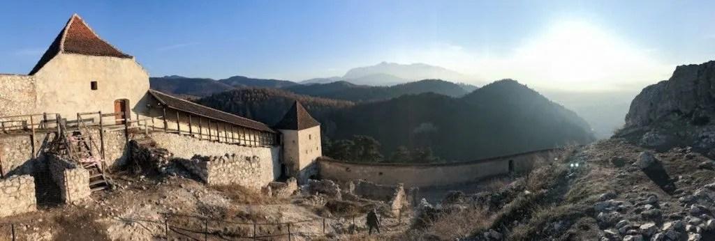 View from Rasnov fortress, Transylvania