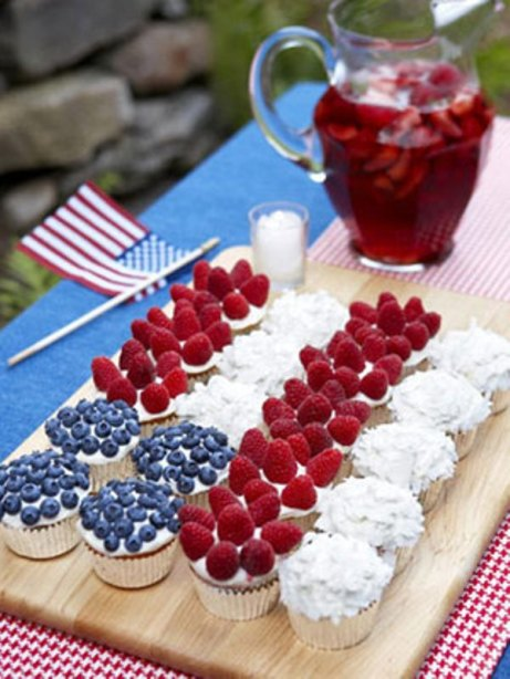 4th july-Cupcakes