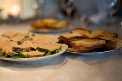 Foie gras and toast