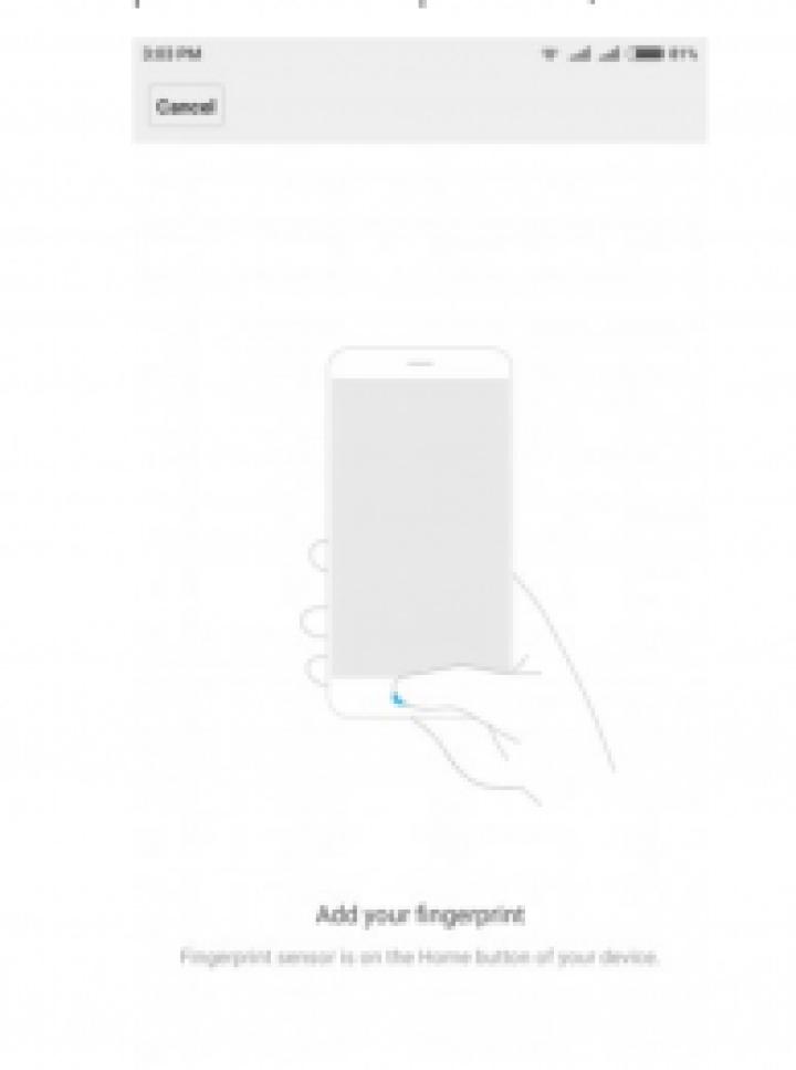 Tecno fingerprint scanner
