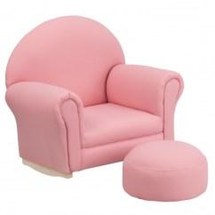 Rocking Chair Footrest Vintage Steelcase Kids Pink Fabric Rocker And Jpg