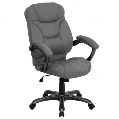 contemporary office chairs table and chair covers high back gray microfiber upholstered jpg
