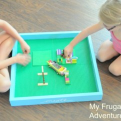 How To Make A Simple Lego Sofa Down Blend Cushions Easy Diy Tray Just 5 00 My Frugal Adventures
