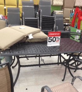target outdoor furniture clearance