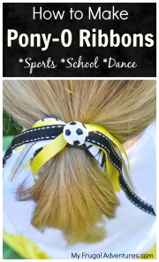make ponytail ribbons