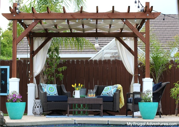 how to build a pergola my frugal