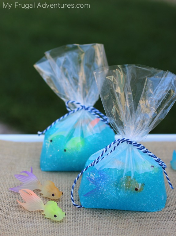 "Fish in a Bag Slime DIY Tutorial | My Frugal Adventures ""Such a fun children's craft! Fish in a Bag slime. Perfect for summer afternoons or rainy days."""