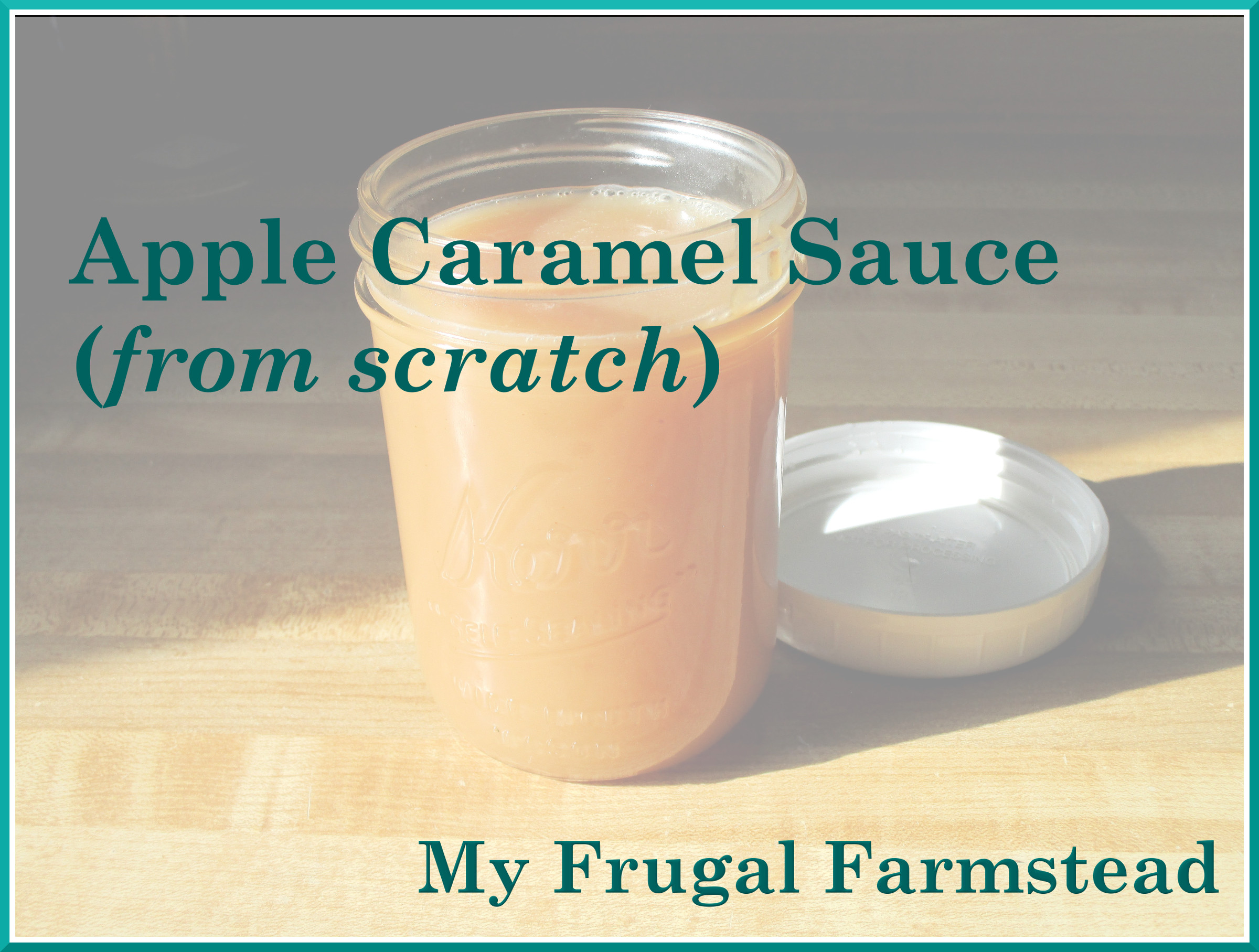 Apple Caramel Sauce (From Scratch)