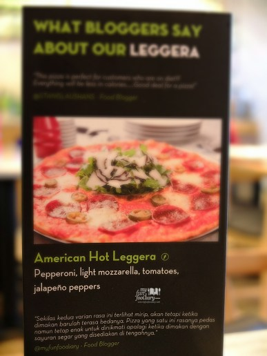 Myfunfoodiary on Pizza Express Table Flyer