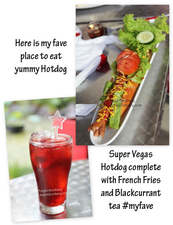 Super Vegas Hotdog + Blackcurrant