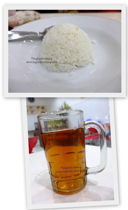 Nasi Putih dan Teh Tawar Hangat