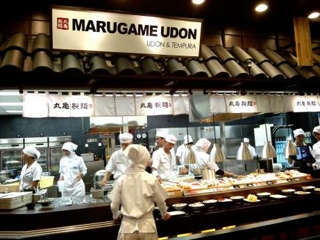 Tampak open Kitchen Marugame Udon