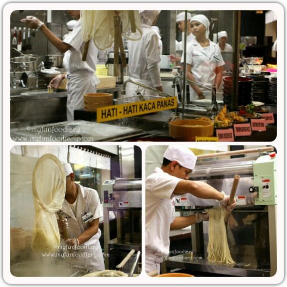 Tampak kesibukan di dapur Marugame Udon