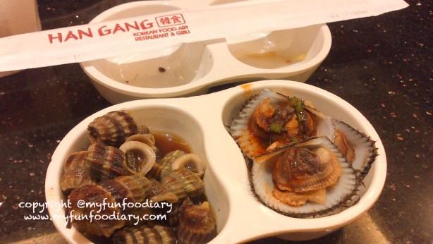 Nambah side dish Kerang di Han Gang :p