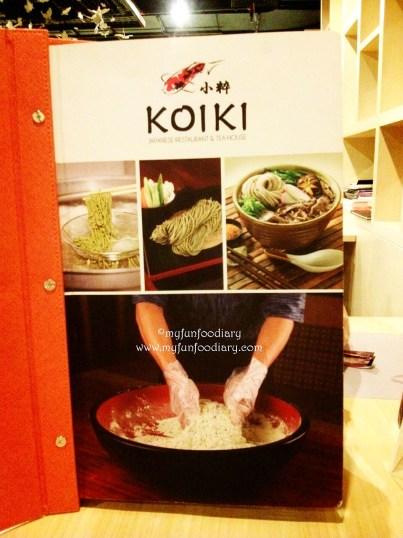 Buku Menu Koiki Resto