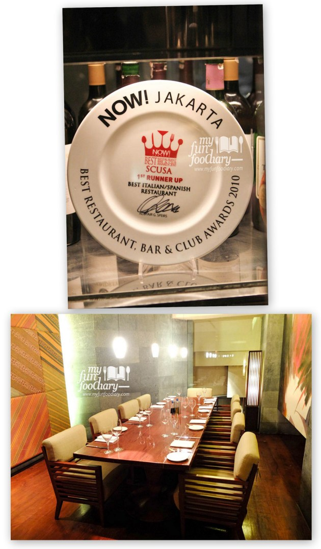 Award and Private Room at Scusa