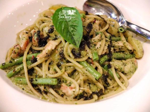 Spaghetti Alla Genovese Con Pollo