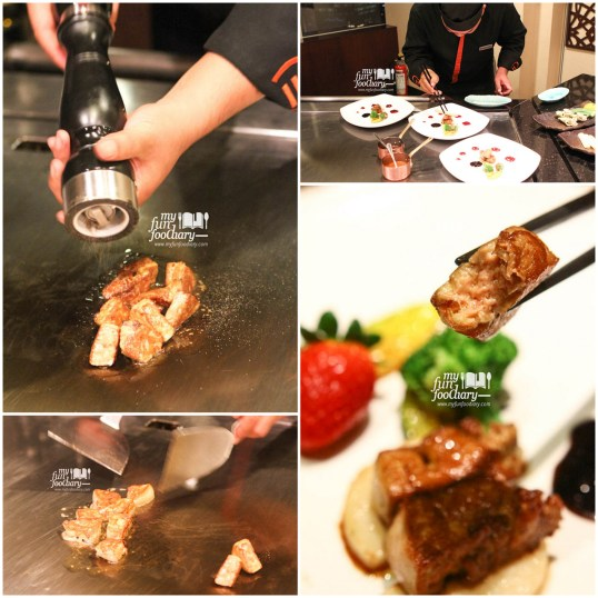 The Process : Seared Foie Gras with Balsamic Teriyaki Sauce