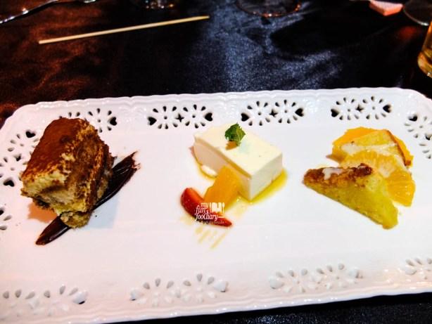 Pannacotta, Tiramisu and Orange Cake by Gaia